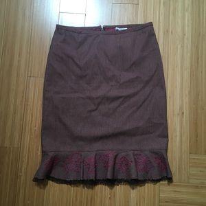 VINTAGE 1970s Pencil Skirt